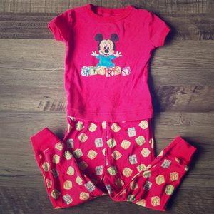Disney Parks Mickey Mouse Pajamas Size 18m